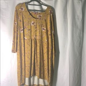Joe Browns Size 26 Yellow Floral Blouse